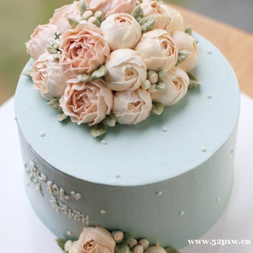 对称玫瑰,百合花,康乃馨,荷花,牡丹花,叶子制作 课程二,欧式蛋糕制作